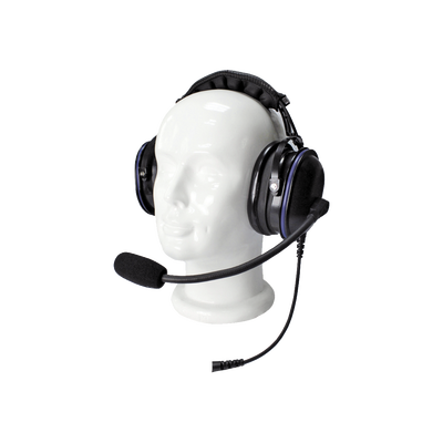 Auriculares de diadema de uso rudo sobre la cabeza para Motorola serie MOTOTRBO/XPR6500/6550/4150/6150