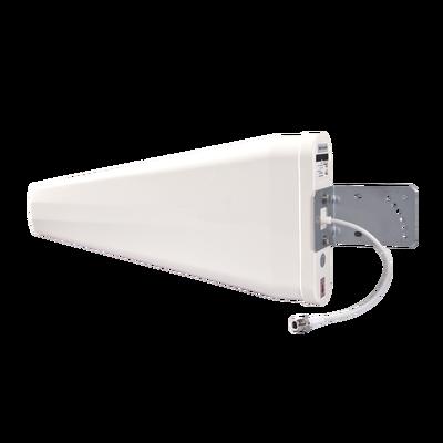 Antena logarítmica de banda ancha para exterior, ganancia de 11 dBi, conecto N-hembra, rango de frecuencia (806-960 / 1710-2700 MHz)