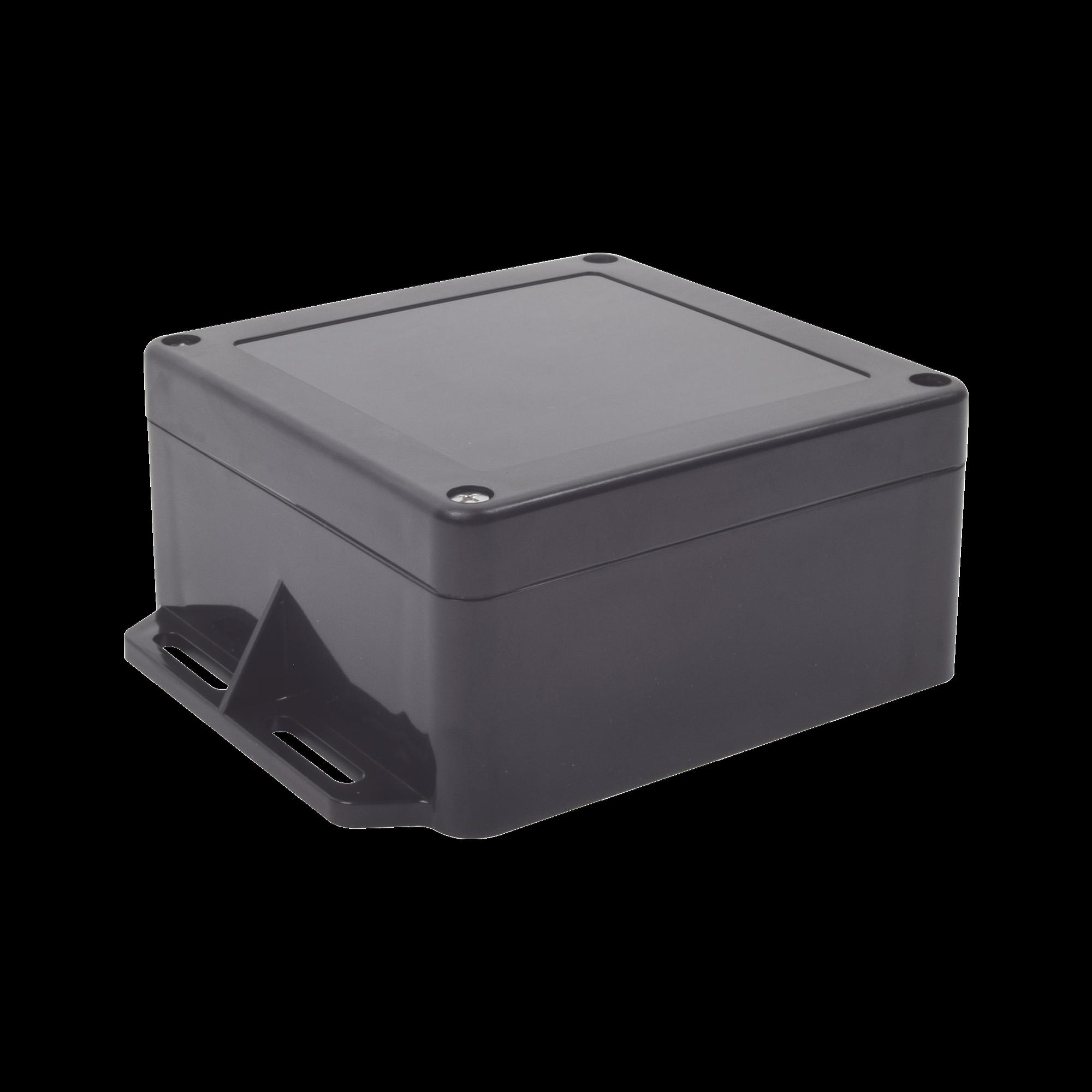 Gabinete Plástico Negro para Exterior (IP65) de 120 x 120 x 60 mm Cierre por Tornillos.