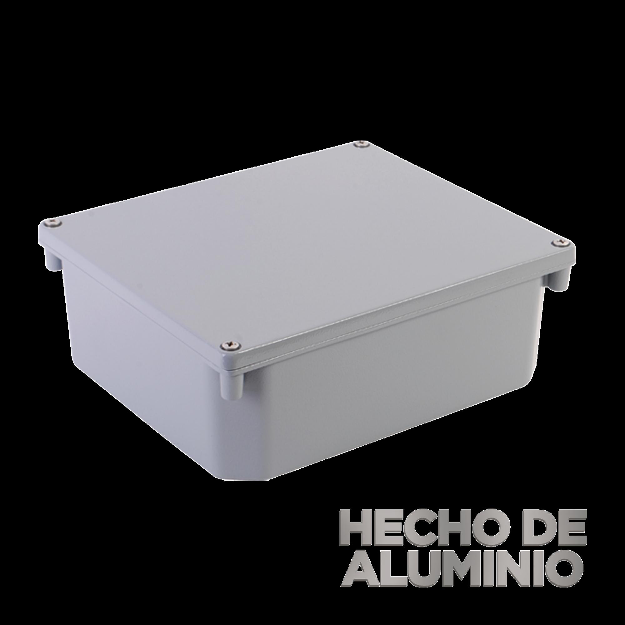 Gabinete de Aluminio para Exterior (IP66) de 252 x 215 x 91 mm Cierre por Tornillos.