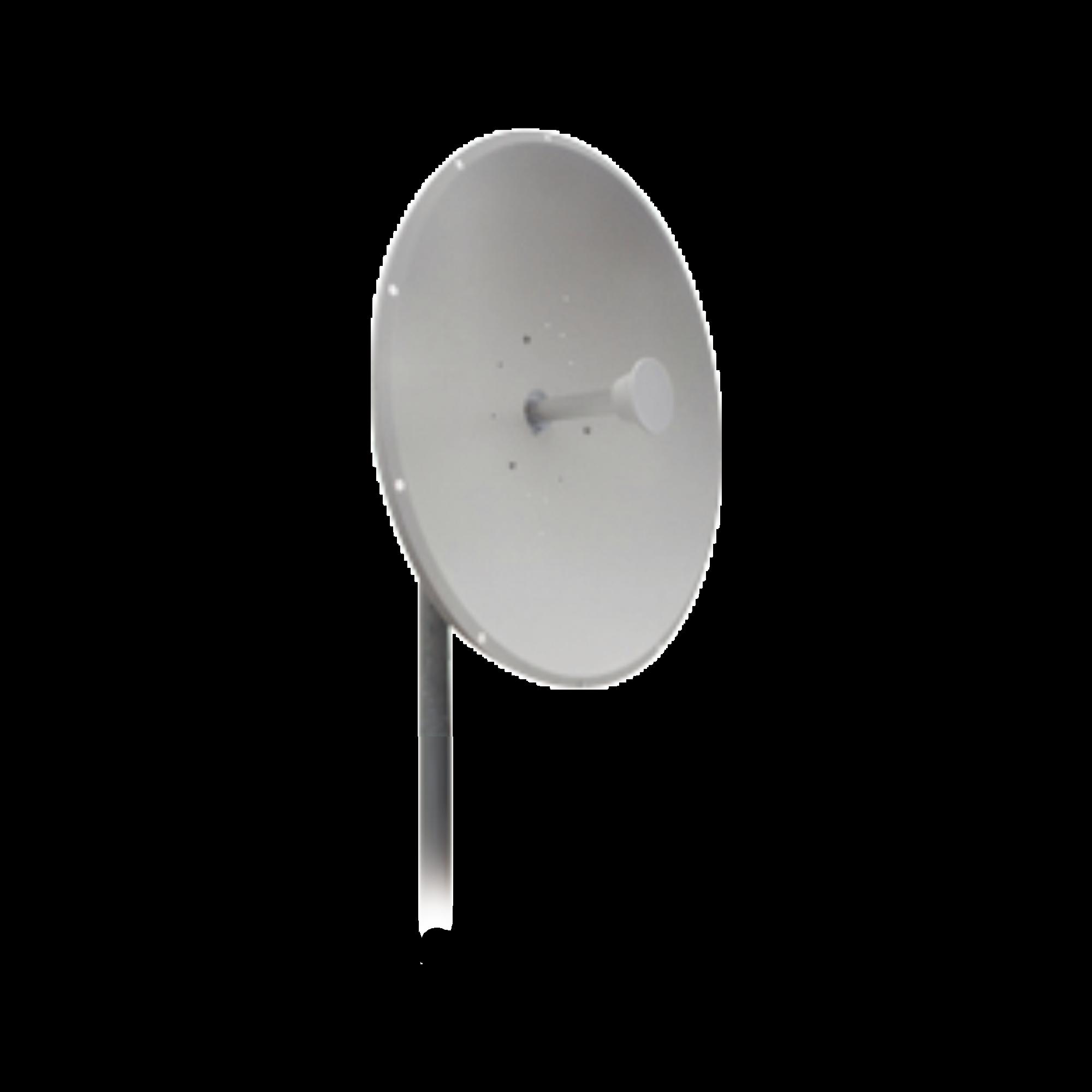 Antena direccional, Ganancia de 32 dBi, rango de frecuencia (4.9 - 5.8 MHz), 2 conectores N-hembra