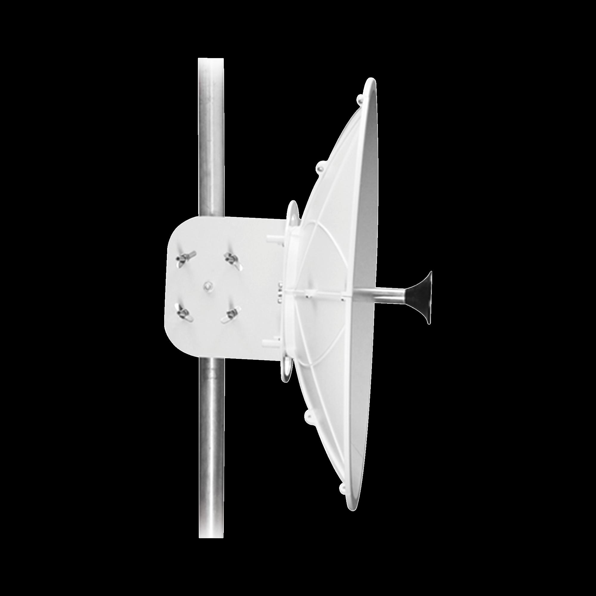 Antena direccional para AF11, Doble polaridad, 10 a 11.7 GHz, 2 ft, Alta ganancia en 34 dBi, Montaje incluido