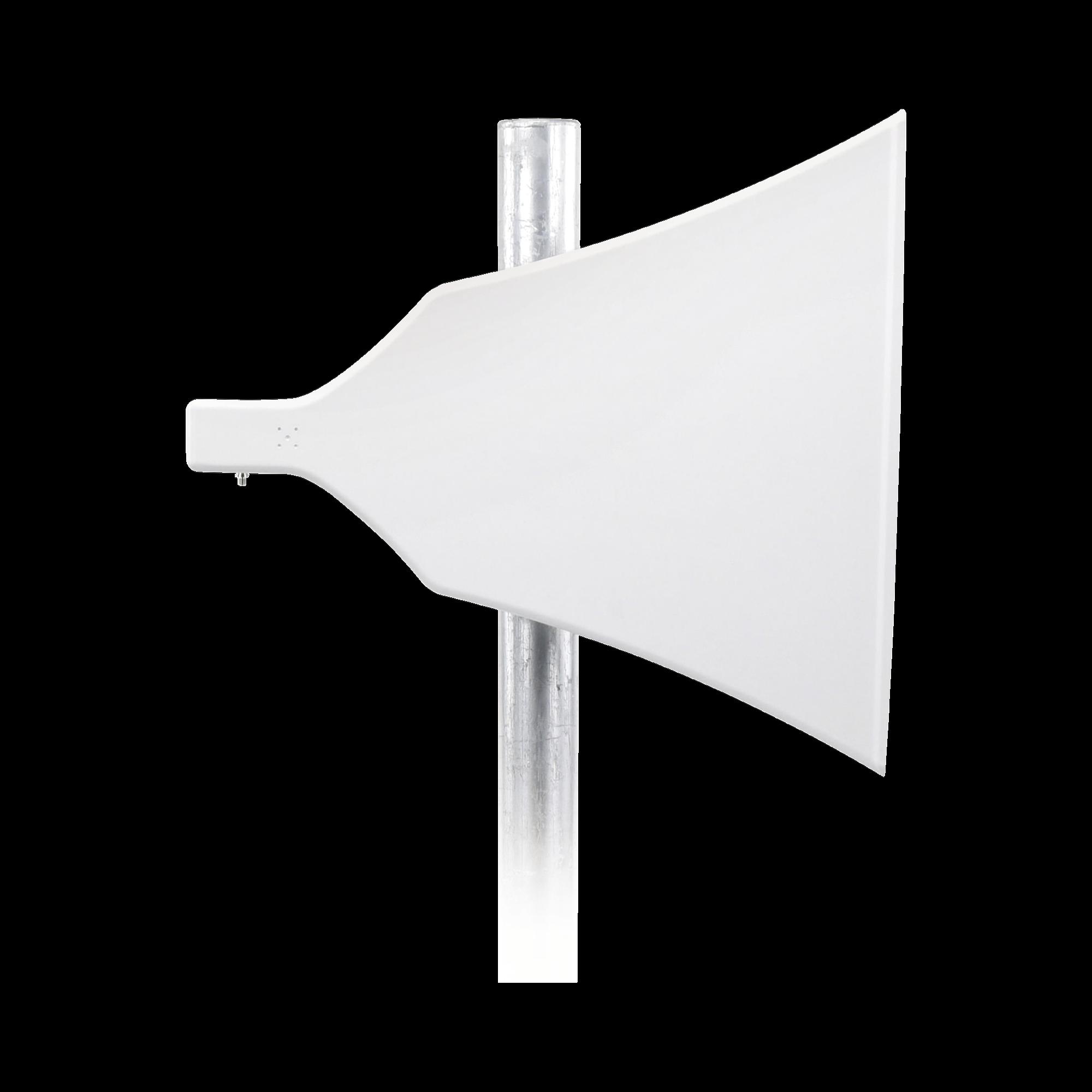 Antena Asimétrica de 90 ?, 16 dBi, tipo cuerno de alta eficiencia, 4.9-6.5 GHz, , Conector N-Hembra, con montaje incluido