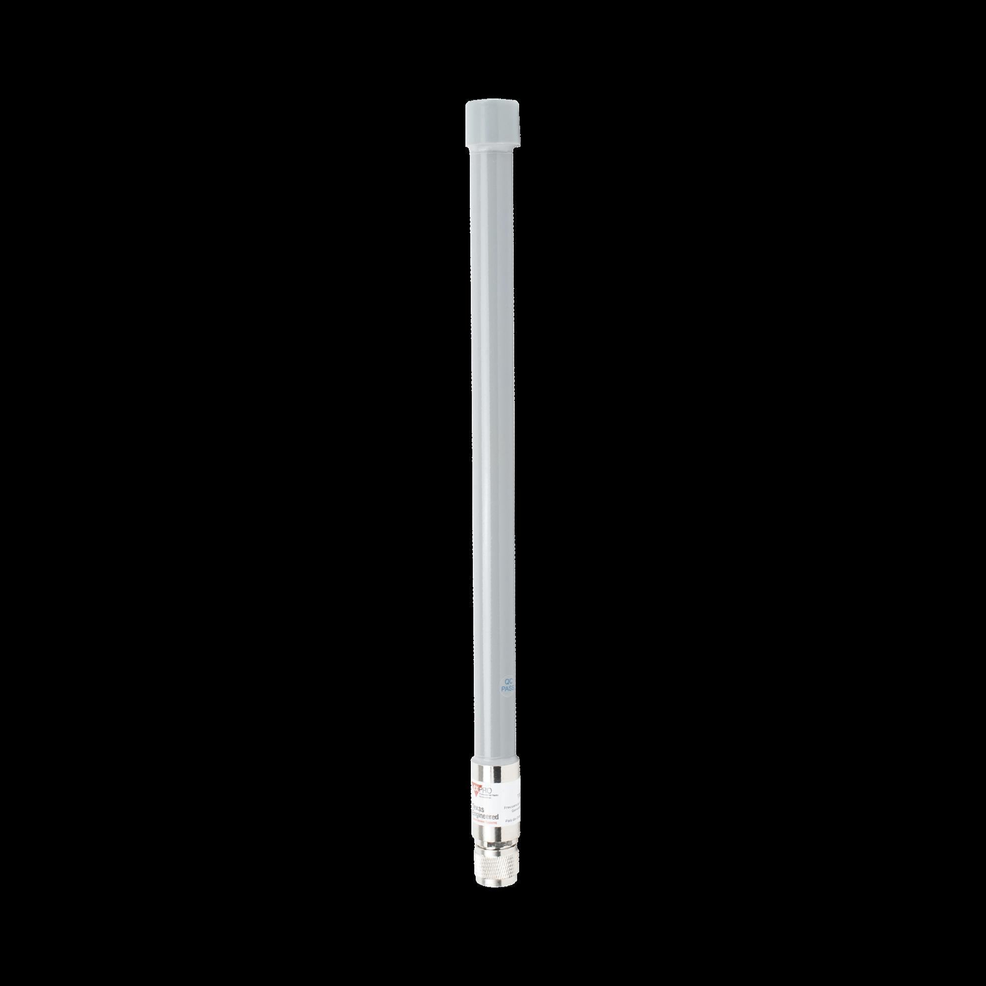 Antena Omnidireccional, Doble banda de 2.4 / 5 GHz, Ganacia de 9 dBi, Conector N-macho