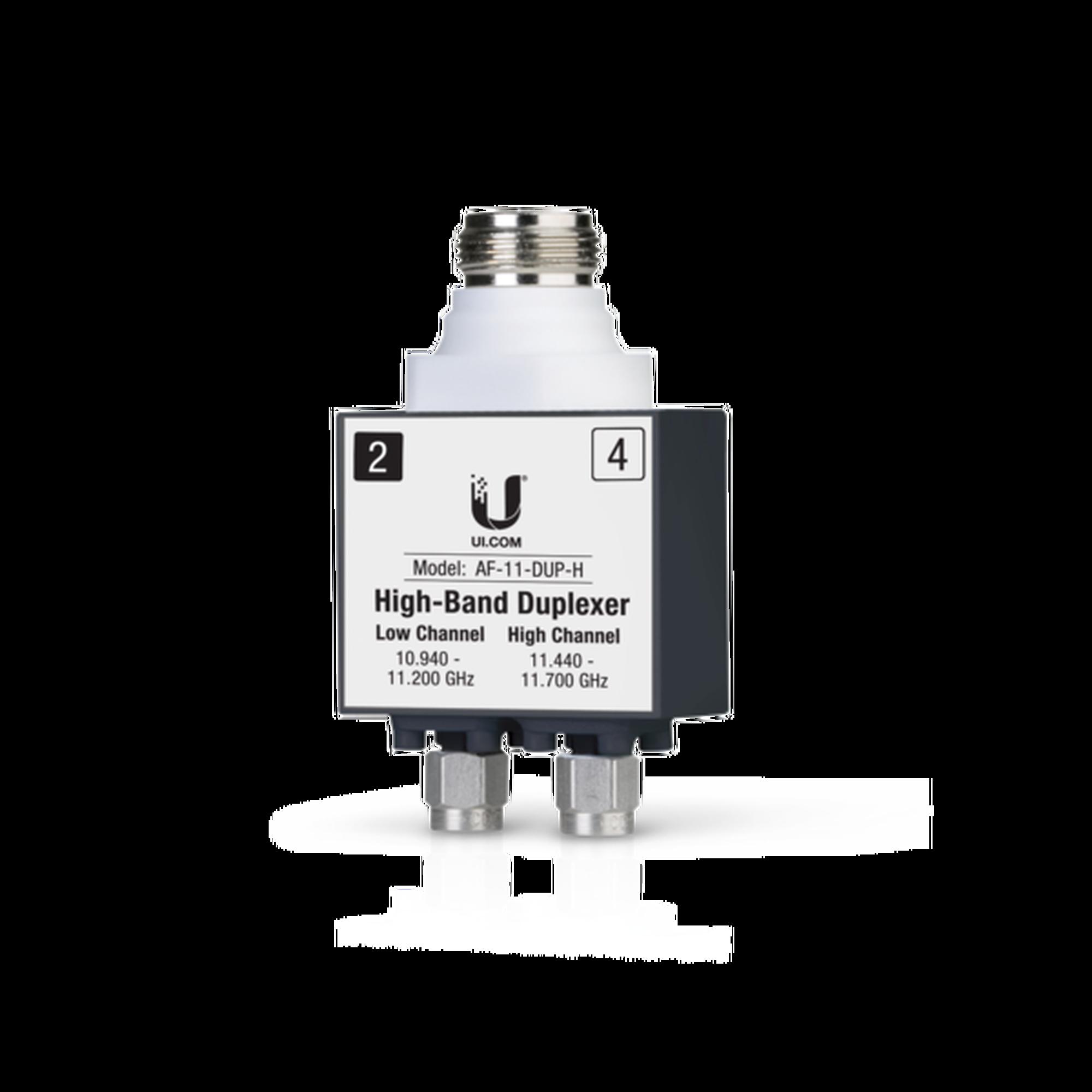 Duplexer para AF-11, banda licenciada de 11 GHz de banda alta (10.940-11.200 GHz y 11.440-11.700 GHz)