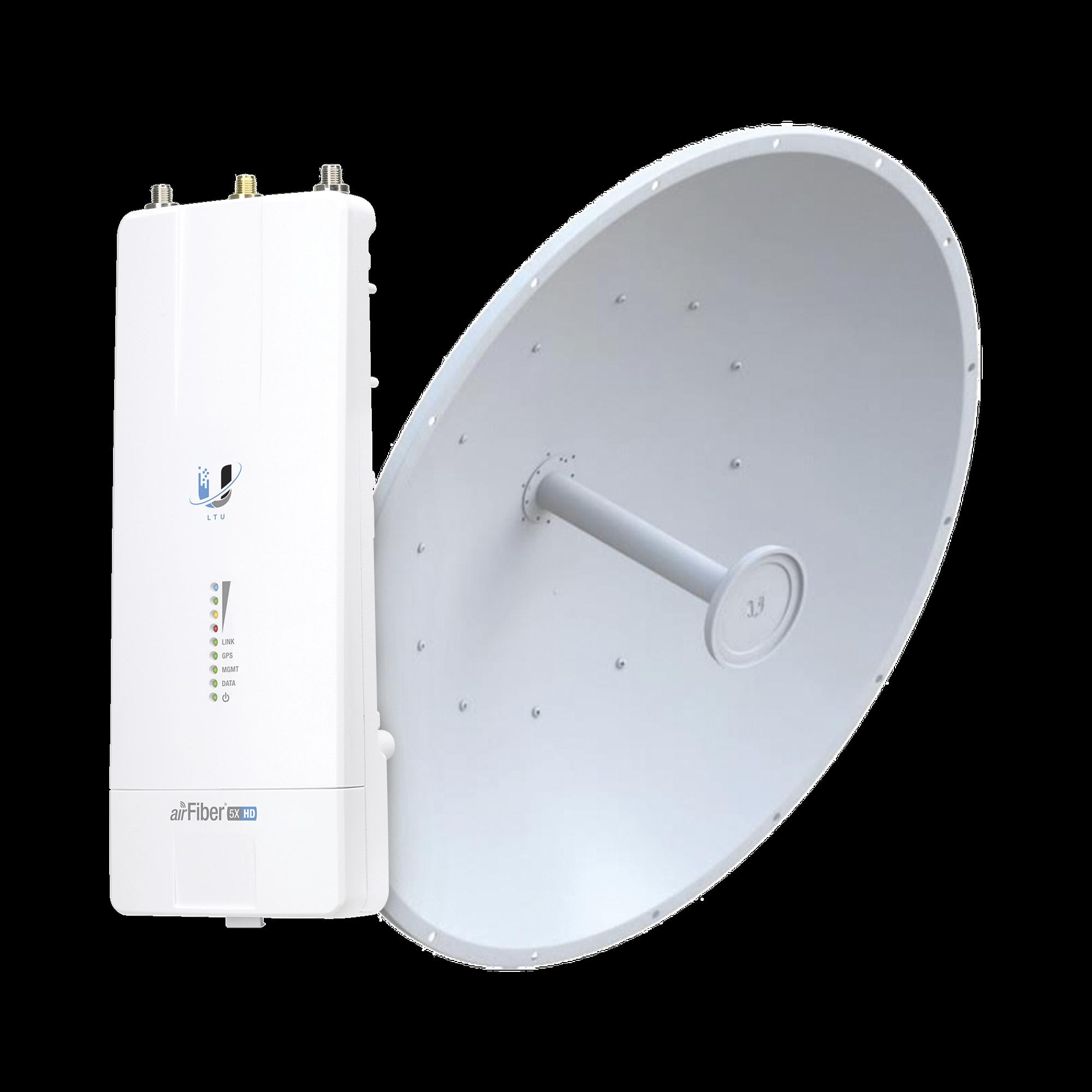 Airfiber Kit AF5X-HD con Antena Fiber 34 dBi Slam-45
