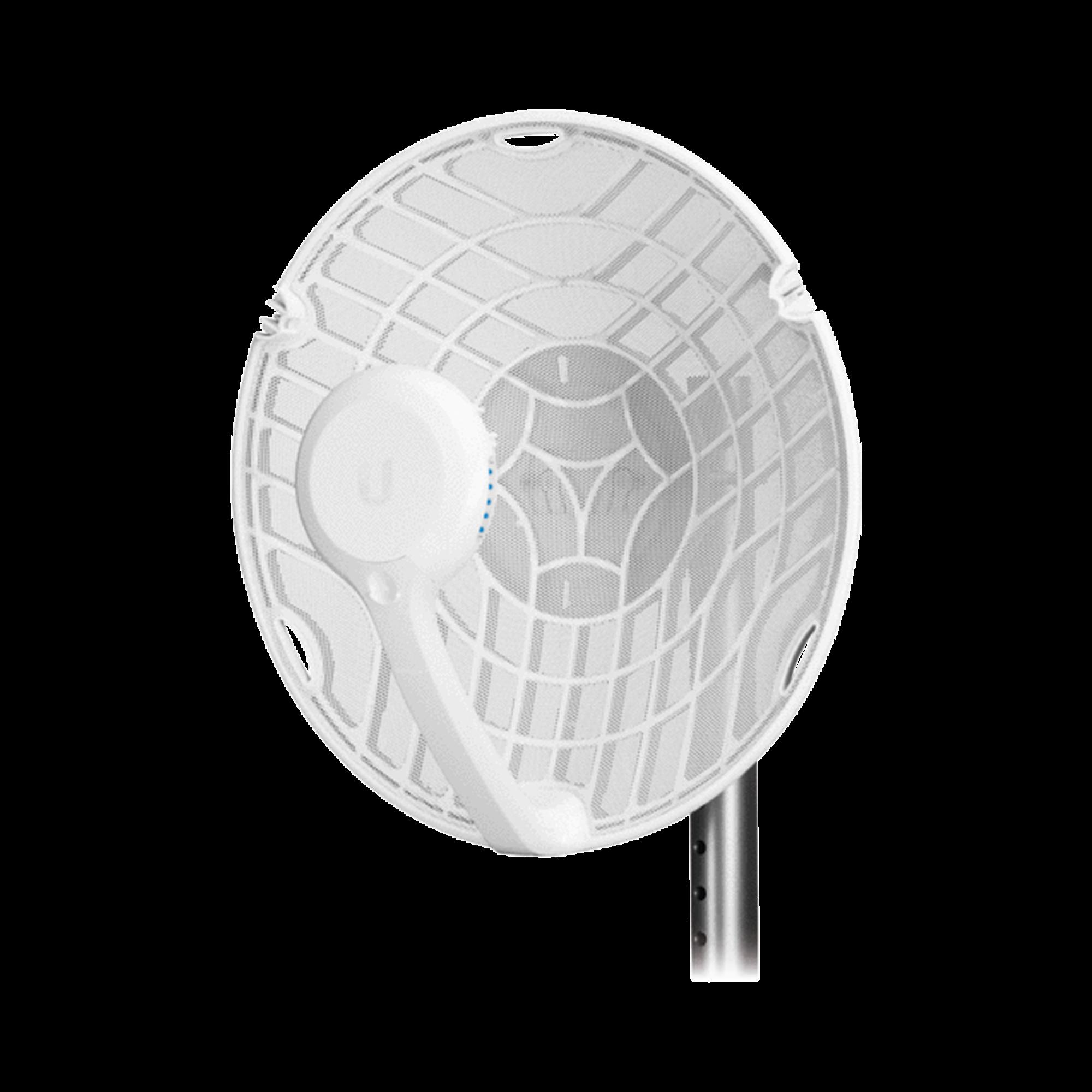 Radio de Backhaul de alta capacidad, tecnología airFiber hasta 1 Gbps, 60 GHz con failover en 5 GHz, con antena integrada de 38 dBi y 11 dBi respectivamente