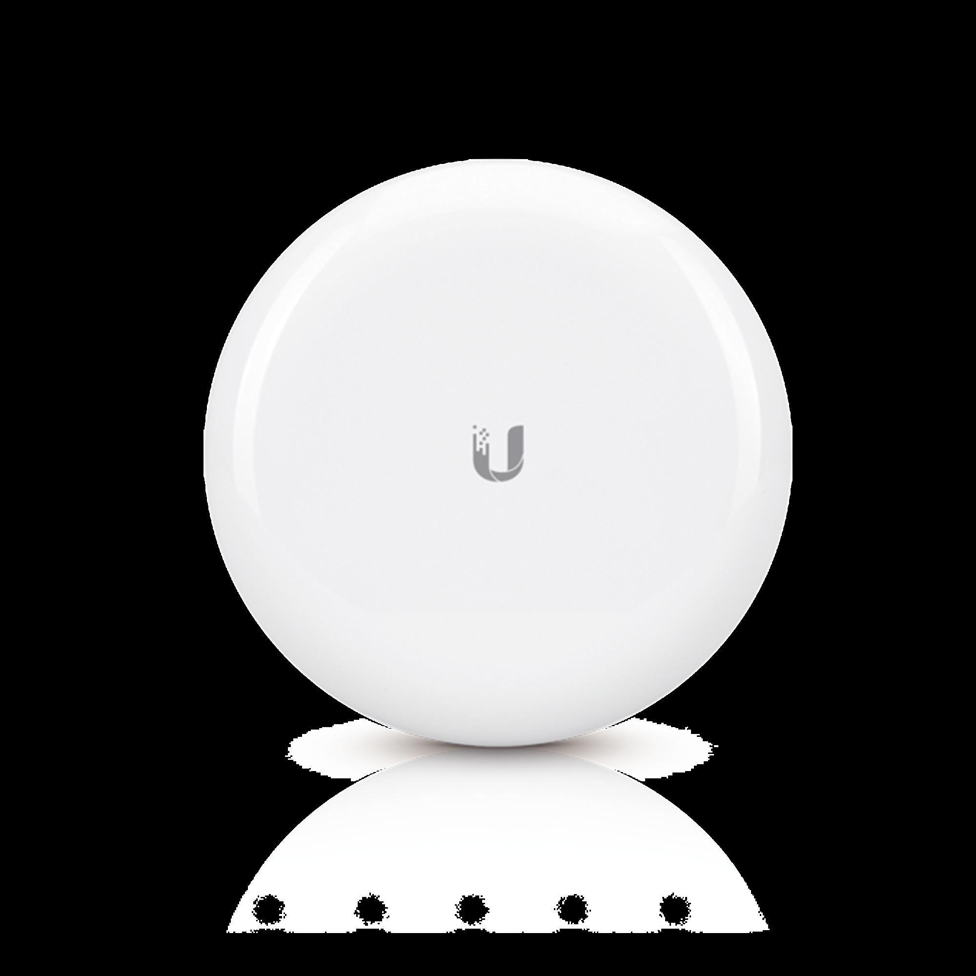 Radio airMAX de alta capacidad, hasta 1 Gbps en 60 GHz con failover en 5 GHz, con antena integrada de 17.2 y 10 dBi respectivamente