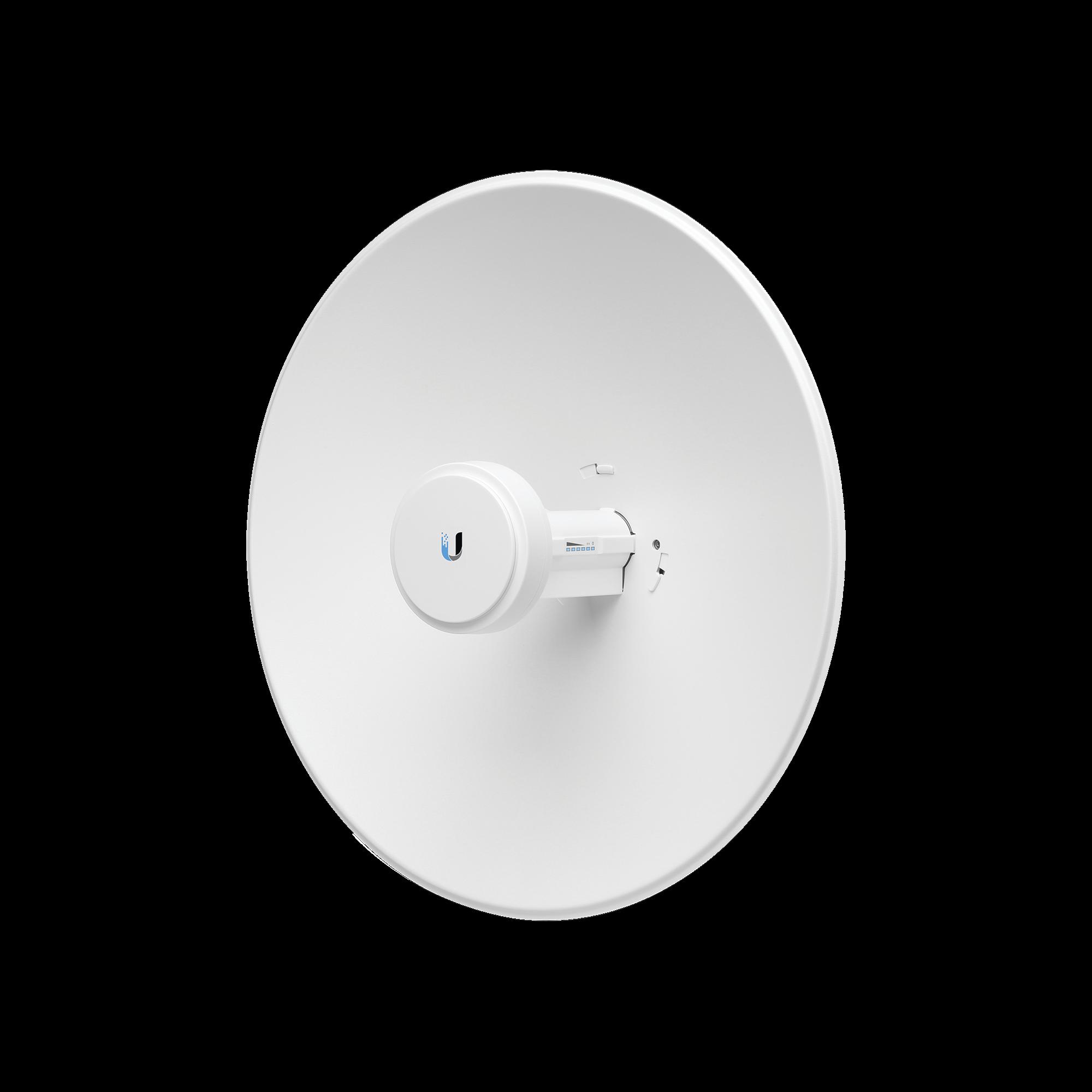 PowerBeam airMAX AC hasta 330 Mbps, frecuencia 2 GHz (2412-2472 MHz), antena tipo plato altamente eficiente de 18 dBi