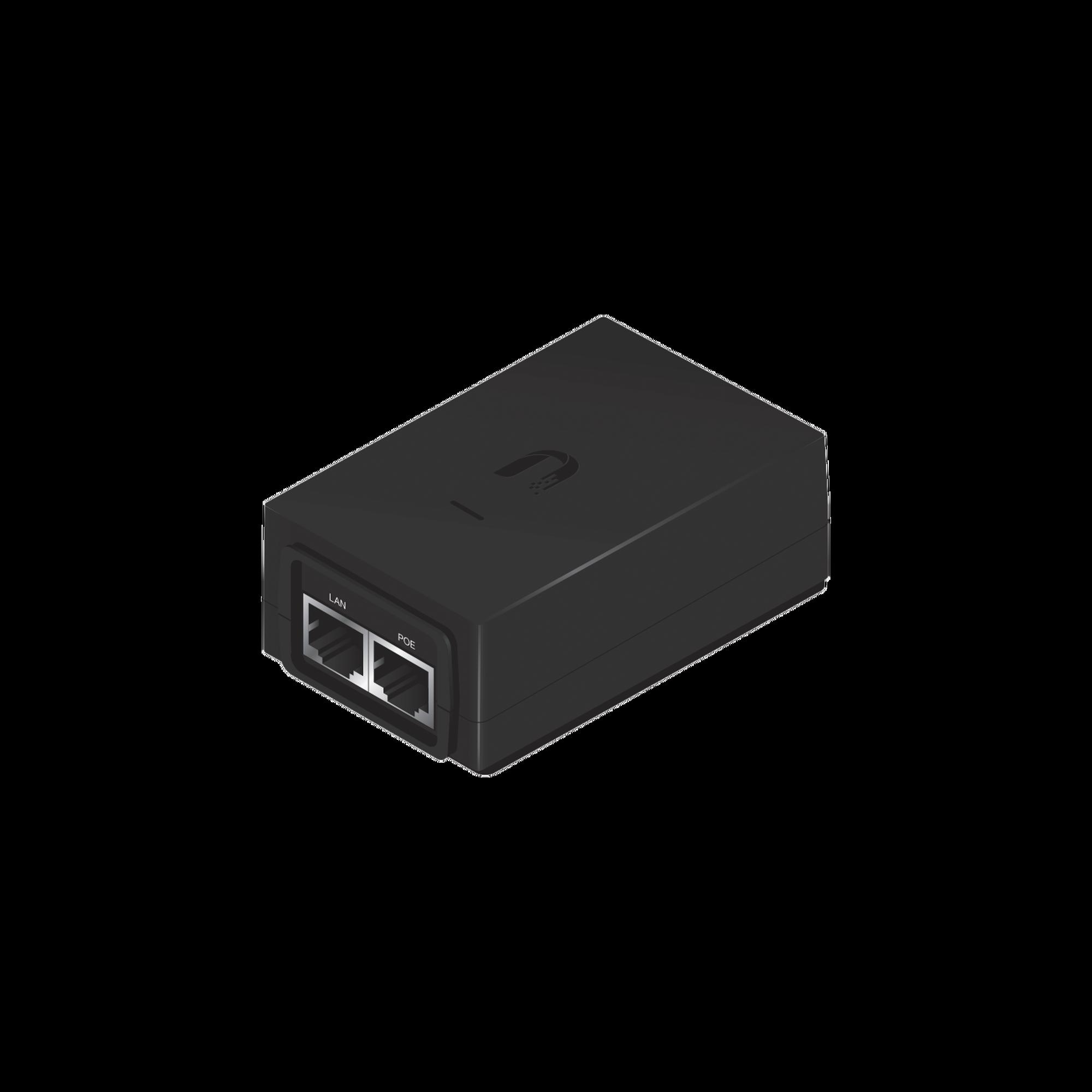 Adaptador PoE Ubiquiti de 24 VDC, 1.25 A con puerto Gigabit