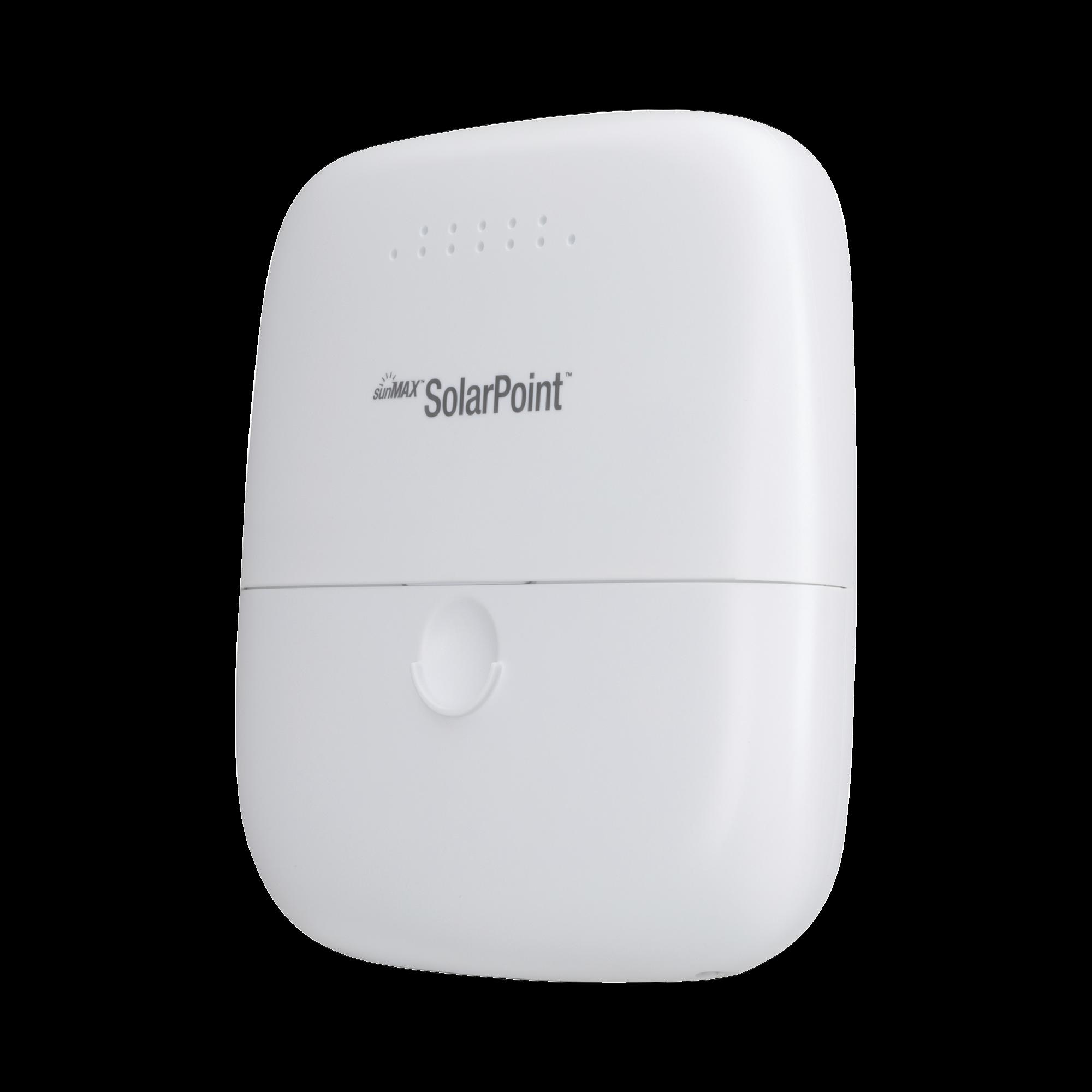 Controlador de carga MPPT SunMax Solar Point 24V 7A para exterior con switch PoE pasivo 24V integrado para alimentar equipos airMAX