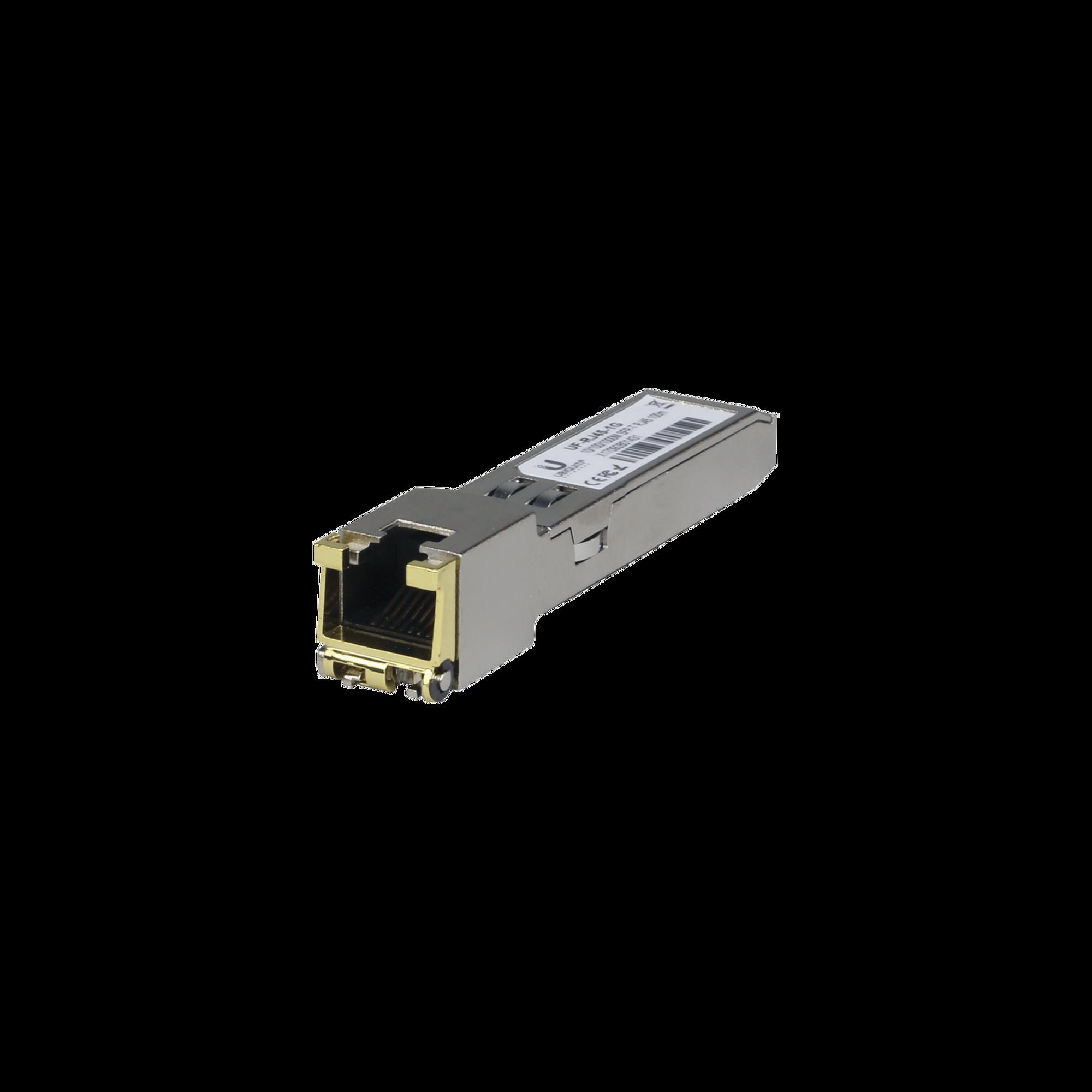UFiber Módulo Ethernet RJ45 a SFP 10/100/1000 Mbps, distancia hasta 100 m