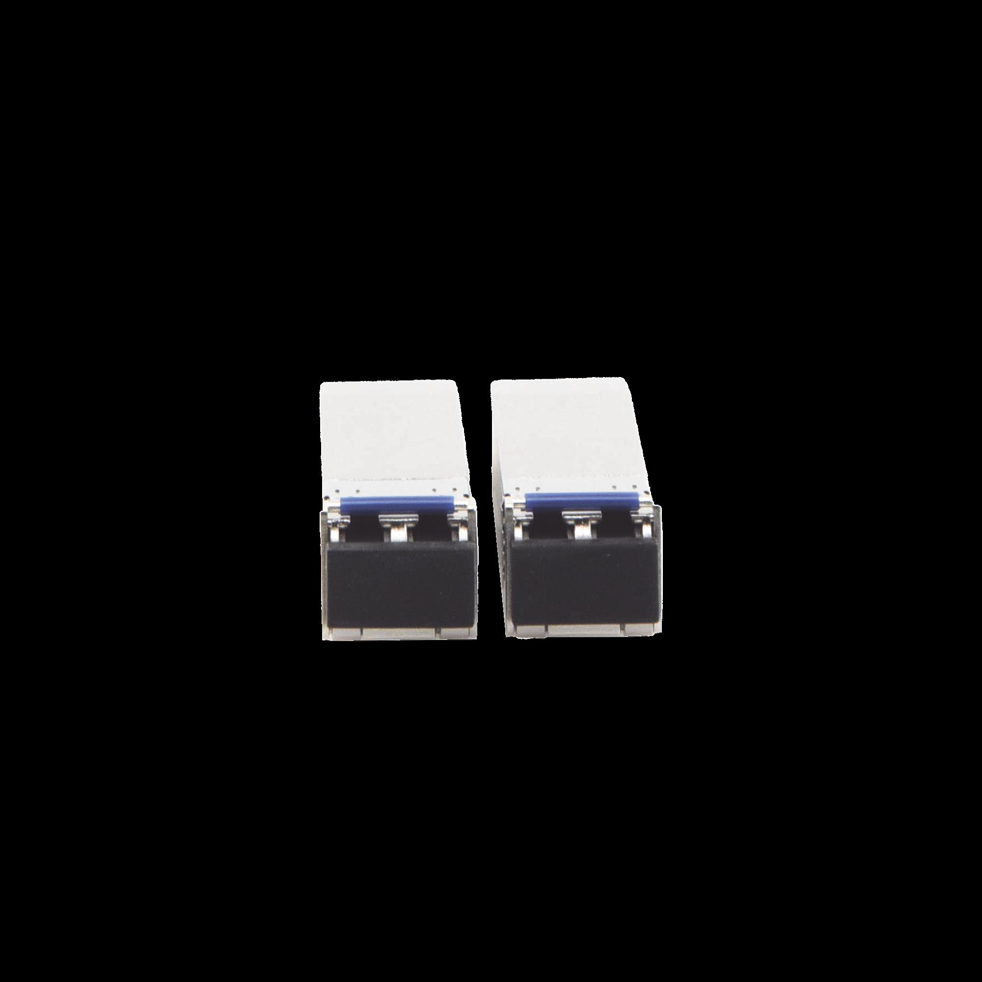 UFiber Modulo SFP+ 10G, transceptor MiniGibic MonoModo 10 Gbps, distancia 10 km, conectores LC, paquete de 2 piezas