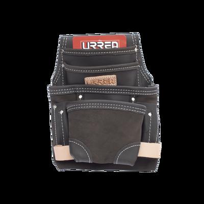 Estuche porta herramienta de piel aceitada con cinturón, con 10 bolsillos, medidas 24.1 x 31.8 cm.