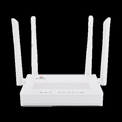 ONU Dual G/EPON con Wi-Fi AC de doble banda, 1 puerto SC/UPC + 2 puertos LAN Gigabit + 1 puerto FXS