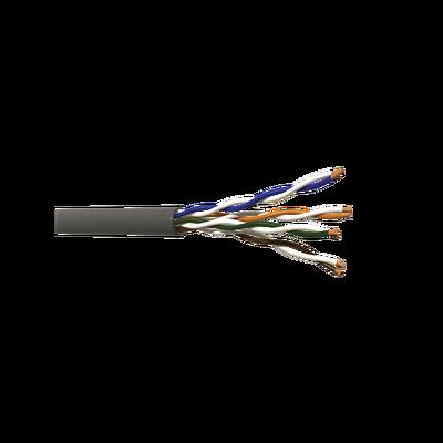 Metros de cable Cat5e para aplicaciones en interior/exterior, resistente a la intemperie, para aplicaciones de CCTV y redes de datos