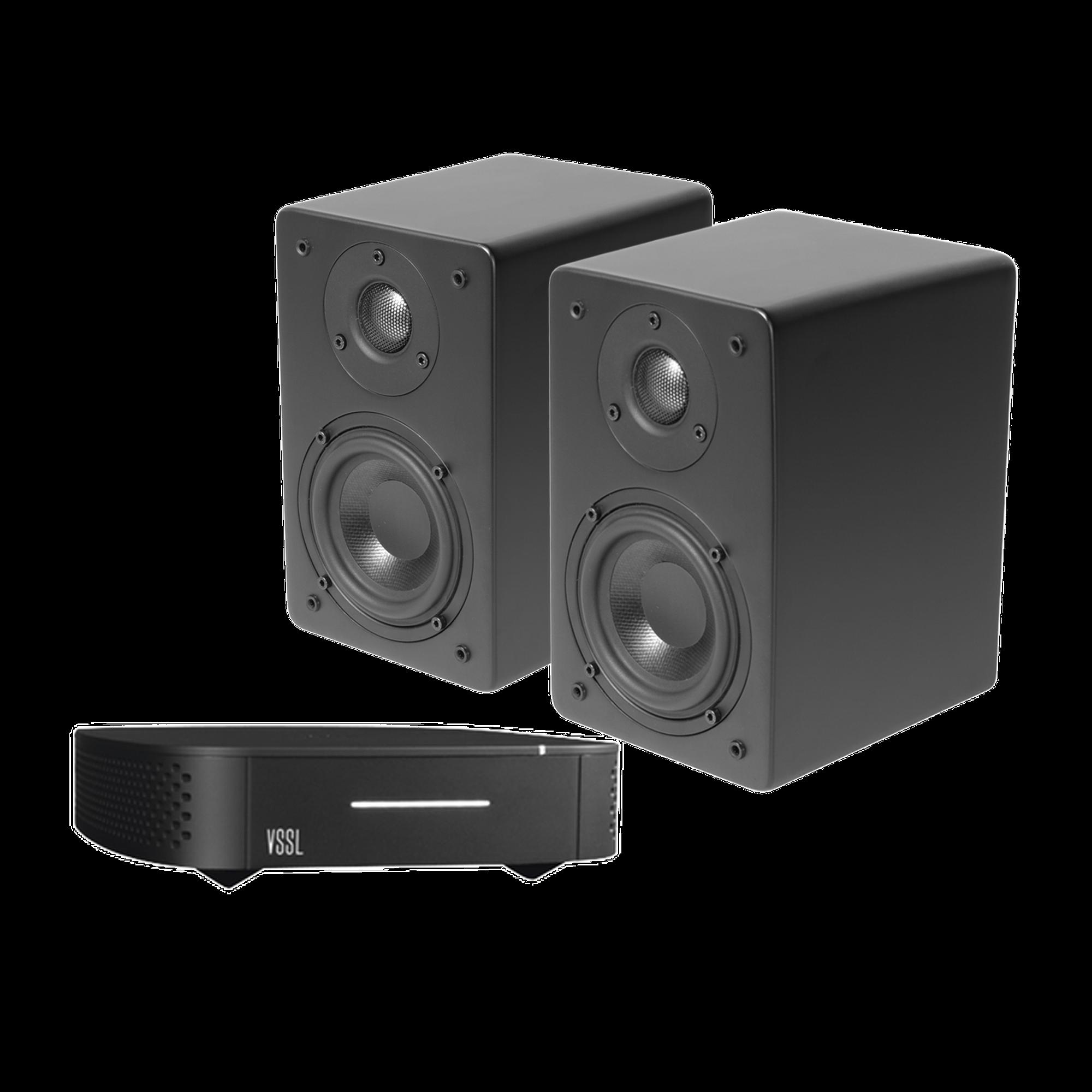Kit Amplificador VSSL de 1 Zona + Altavoz De Estantería Color Negro De TruAudio