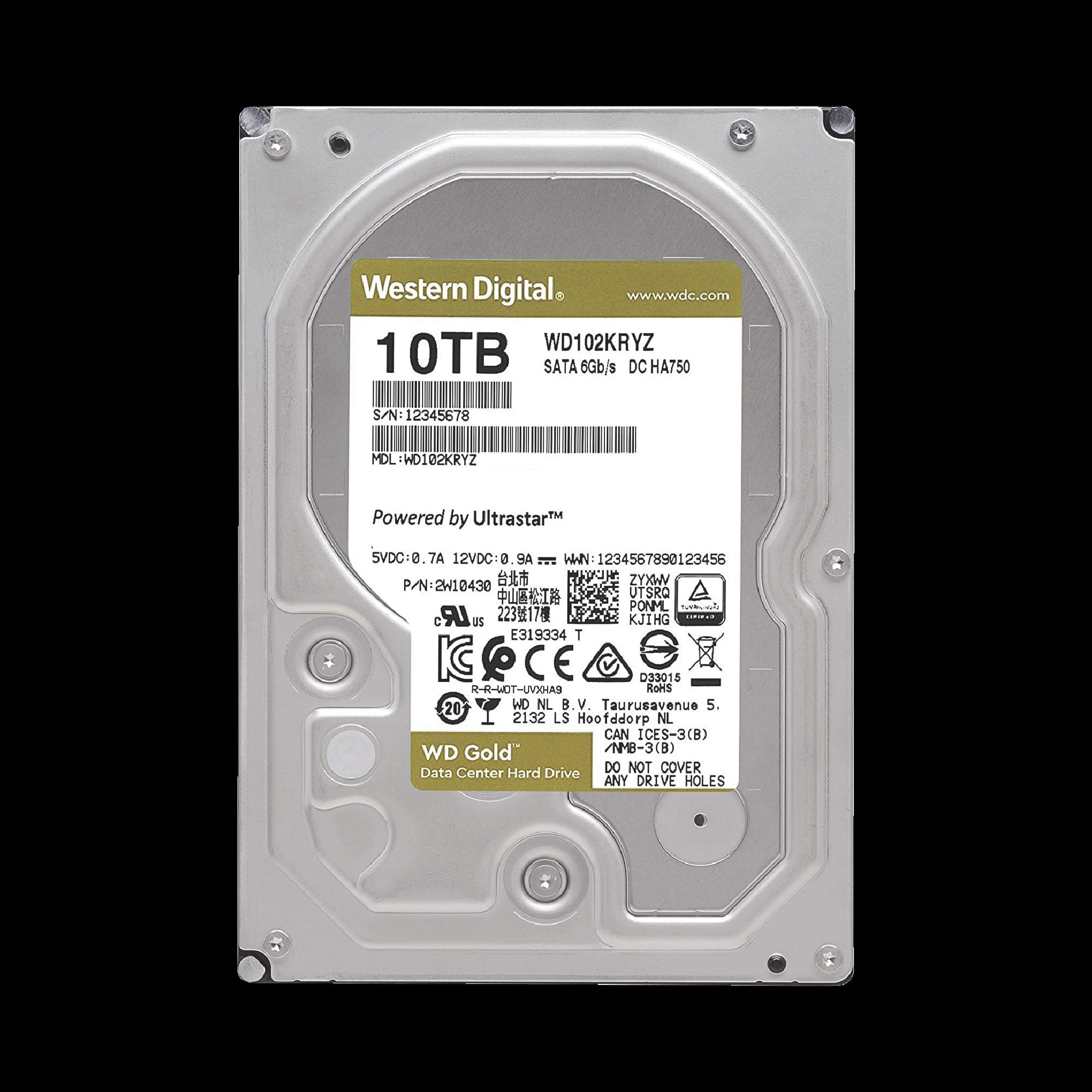 Disco duro WD 10TB / 7200RPM / Optimizado NAS y DataCenter / HelioSeal
