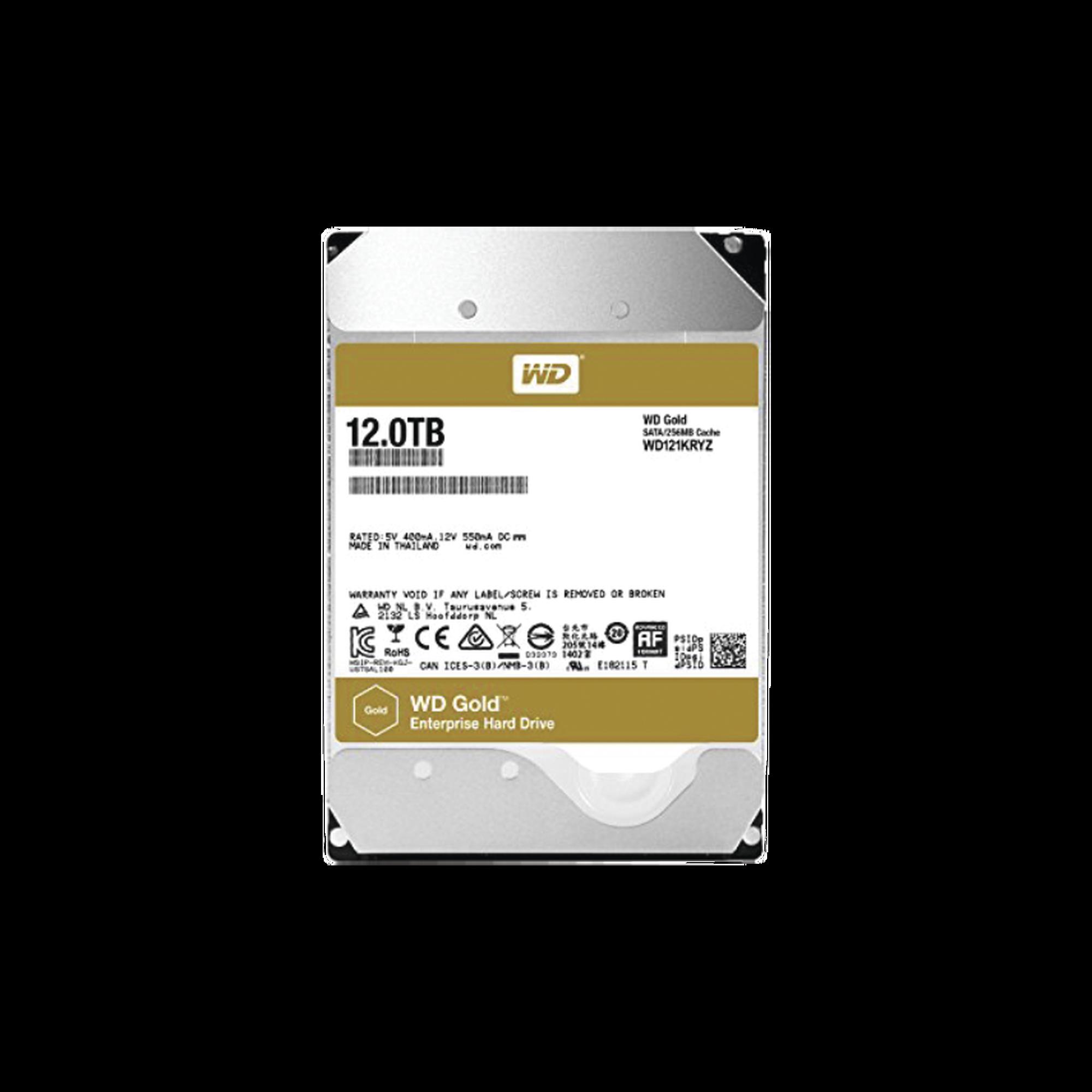 Disco duro WD 12TB / 7200RPM / Optimizado NAS y DataCenter / HelioSeal