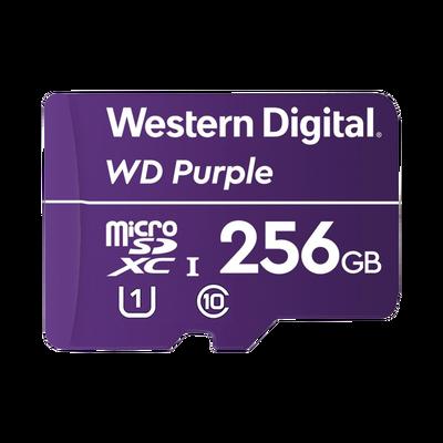 Memoria microSD de 256 GB PURPLE, Especializada Para Videovigilancia, 3 VECES MAYOR DURACIÓN QUE UNA CONVENCIONAL