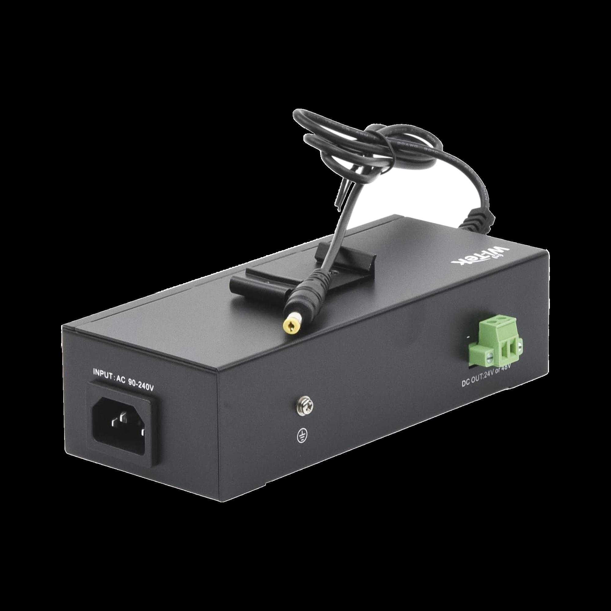 Inyector PoE UPS No-Break con  2 Puertos Gigabit