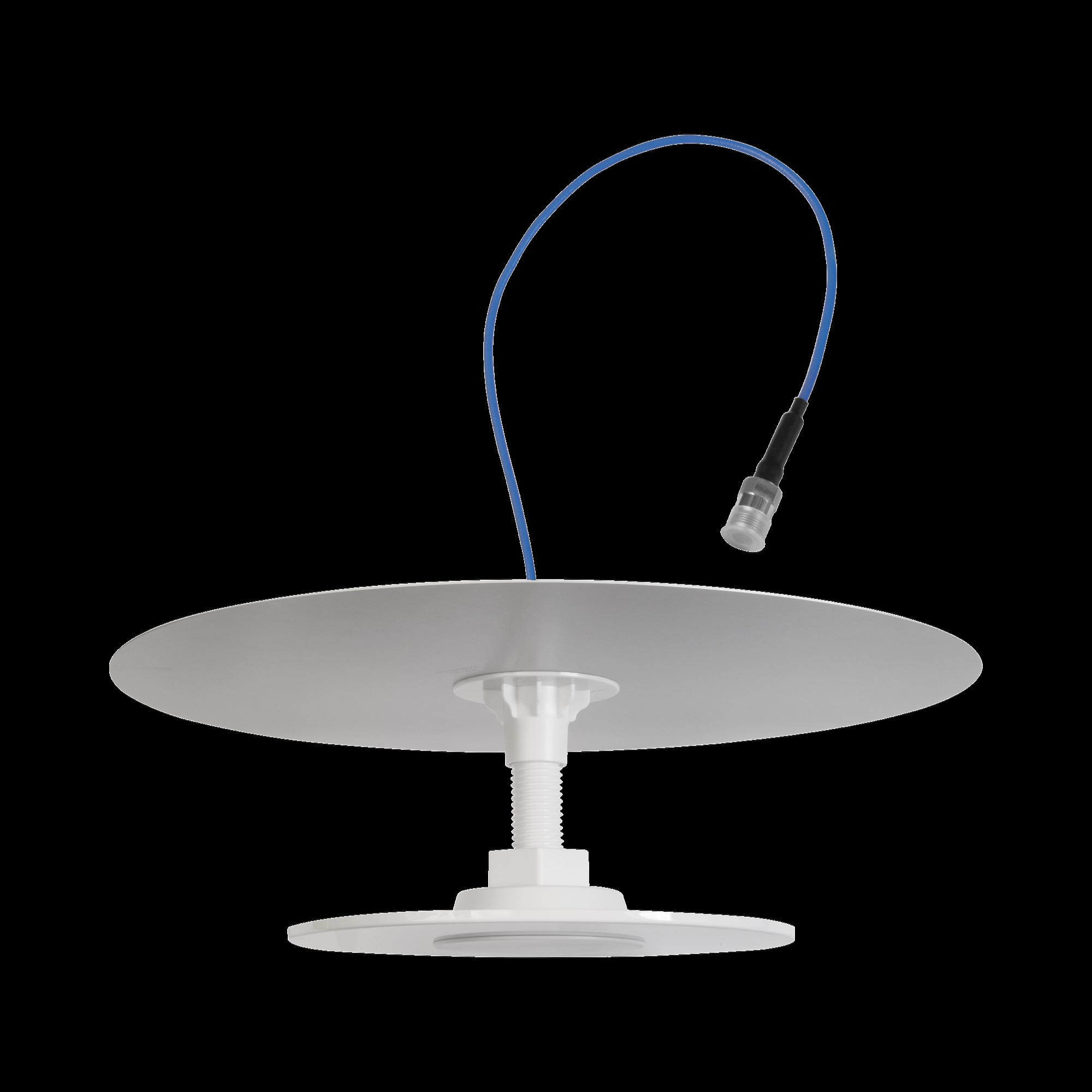 Antena Omnidireccional de Bajo Perfil Ultra Delgada con Reflector para Máxima Ganancia| Cubre bandas de celular 4G, 3G y WiFi de 608 a 2700 MHz | Ganancia de 7 dBi