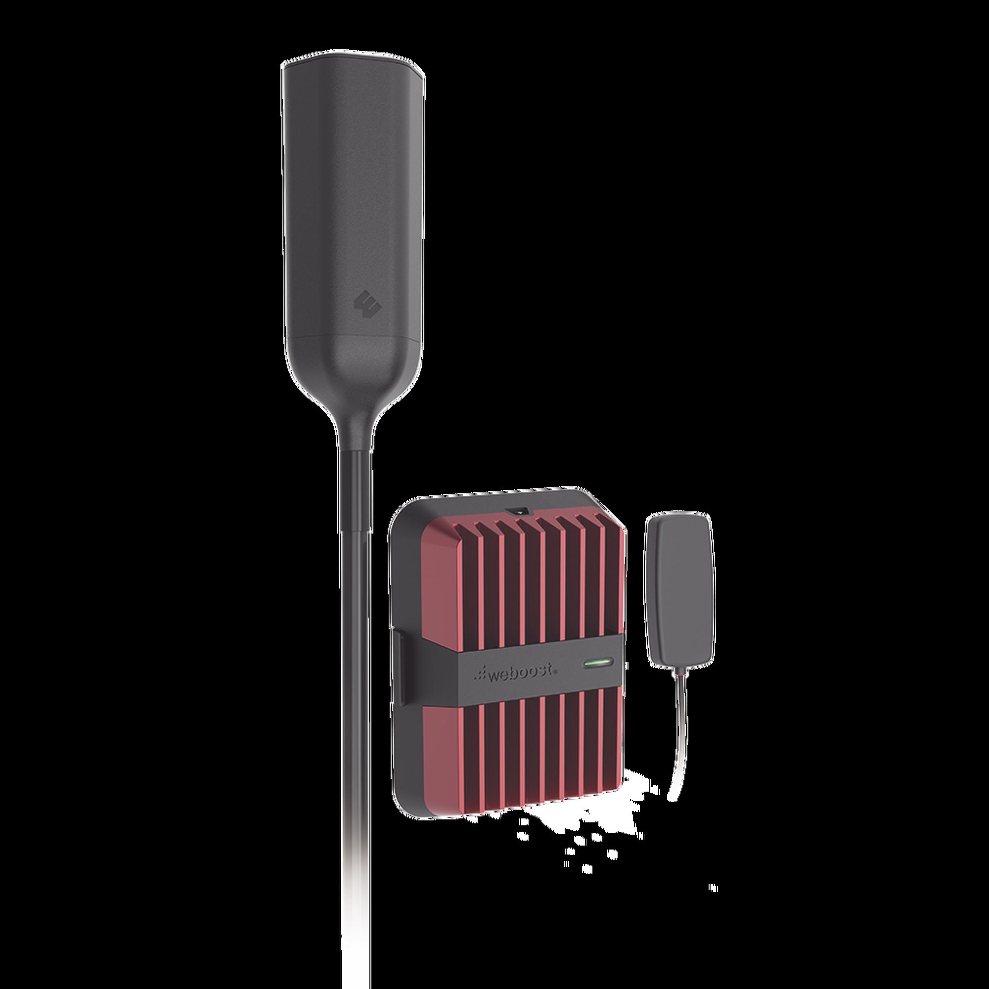 Kit amplificador de señal celular 4G LTE, 3G y VOZ. Drive Reach OTR. Especial para Tractocamión y Vehículos Pesados. Soporta múltiples dispositivos.  Opera con los principales operadores.