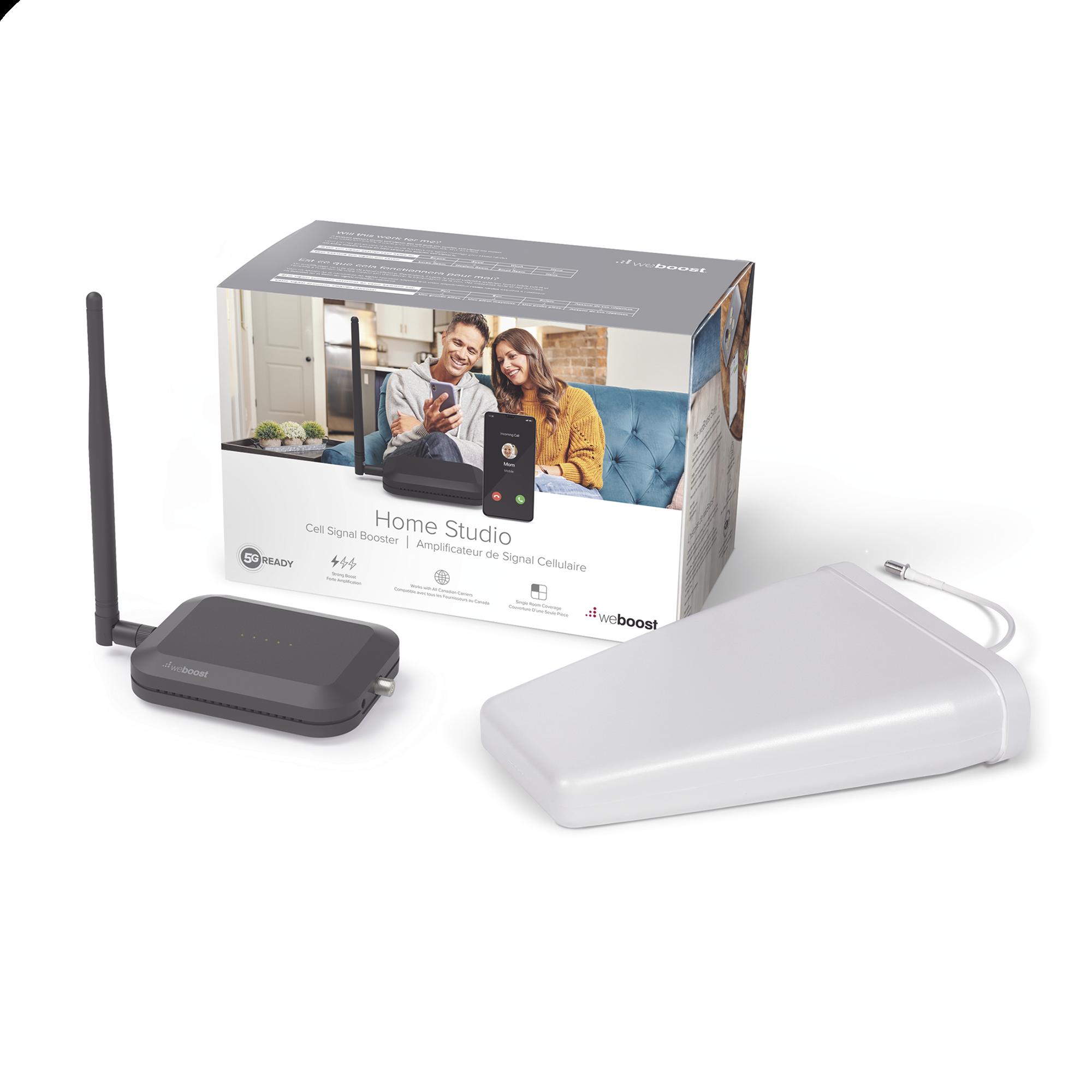 KIT de Amplificador de Señal Celular Home Studio, especial para Datos 4G LTE, 3G y Voz. Mejora la señal para cubrir una habitacion.