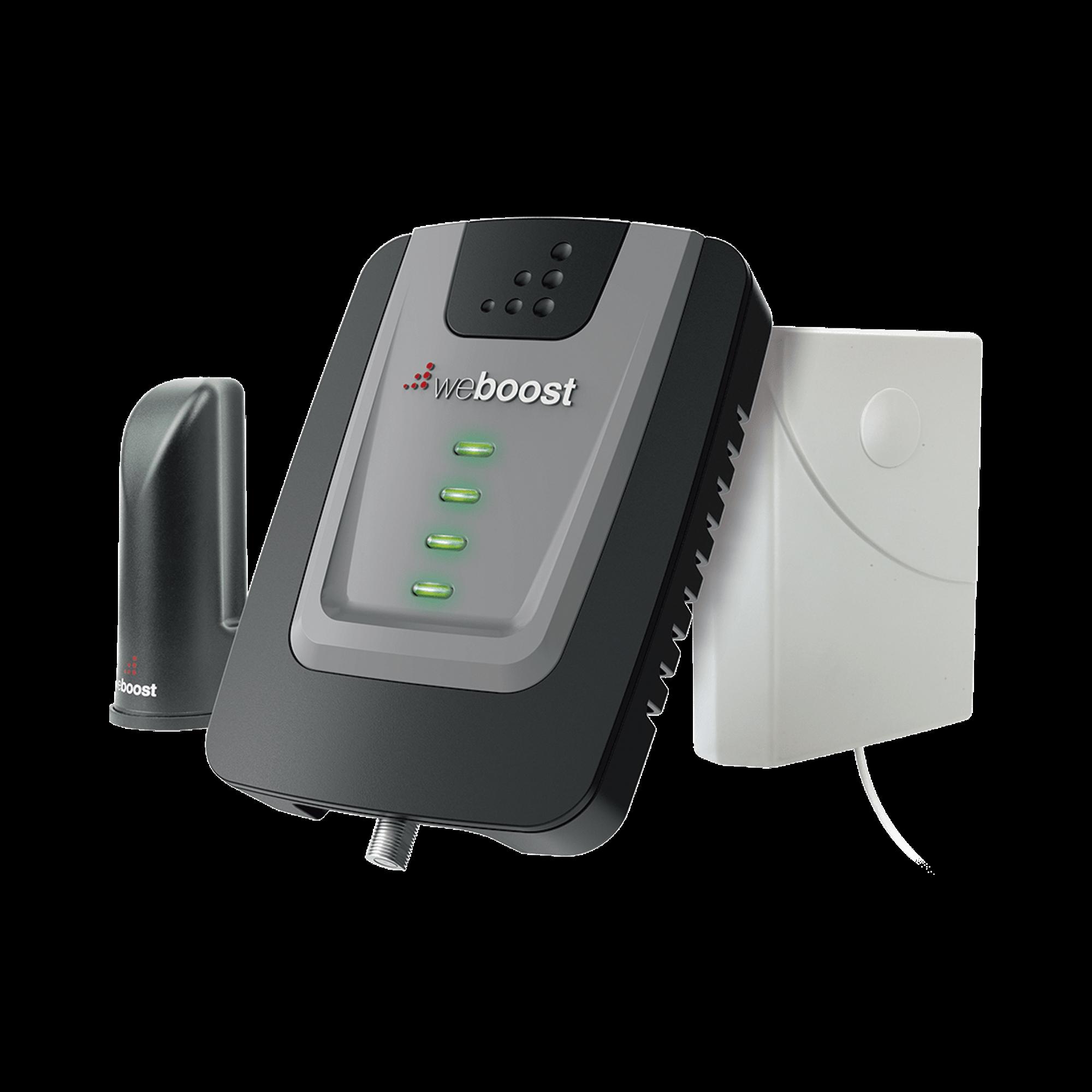KIT de Amplificador de Señal Celular Home Room, especial para Datos 4G LTE, 3G y Voz. Mejora la señal en áreas de hasta 140 metros cuadrados.