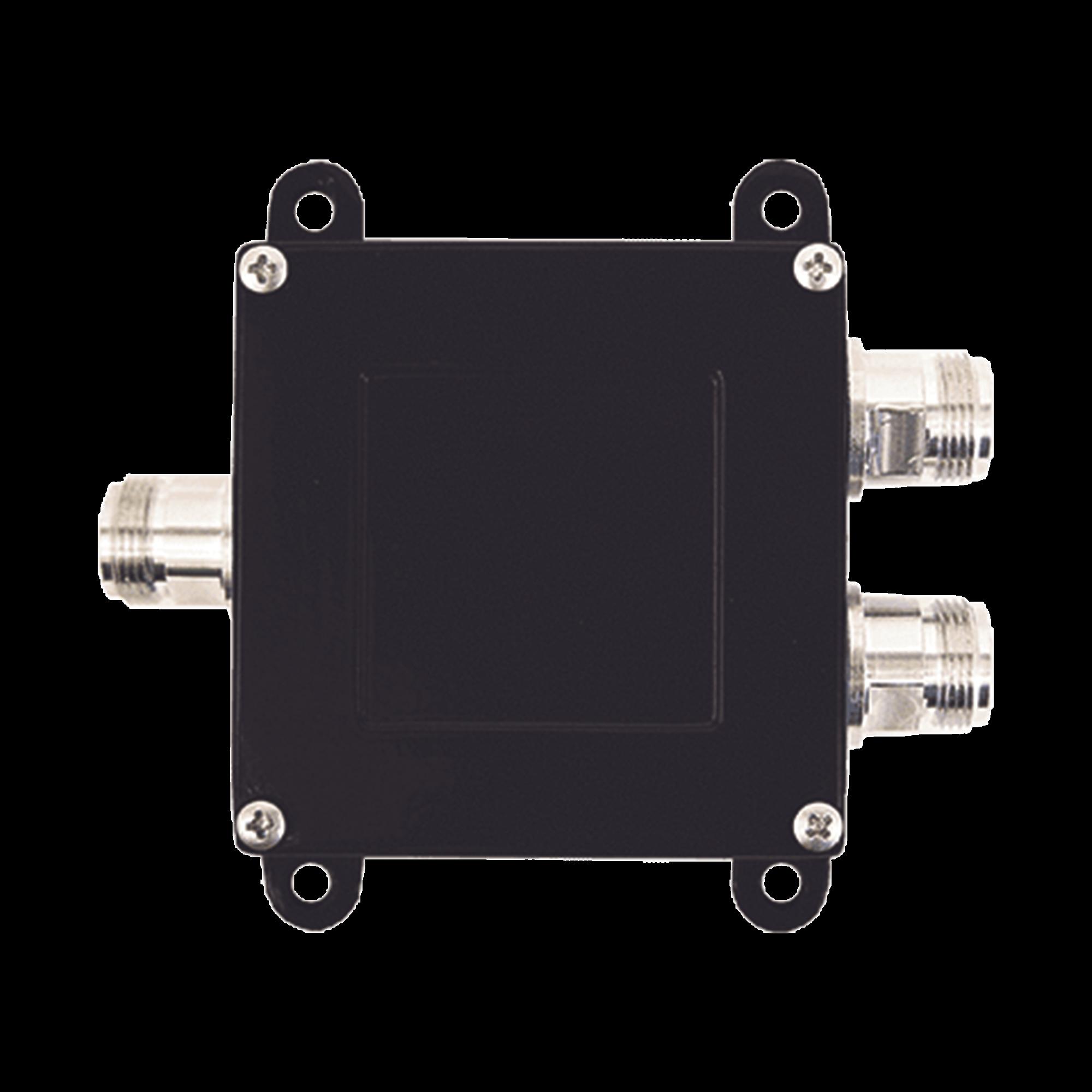 Separador TAP -7 dB con rango de frecuencia de 700 a 2500 MHz. Ideal para separar la antenas a diferentes longitudes de cable coaxial. 50 Ohm con conectores N Hembra.