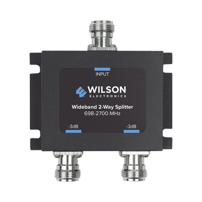 Divisor de potencia (Splitter) de dos vías para 700-2700 MHz.