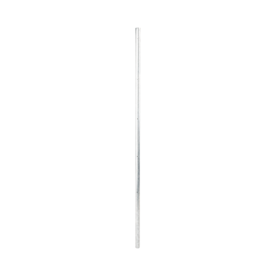 Poste de esquina fabricado en tubo galvanizado con 5 perforaciones para aisladores.