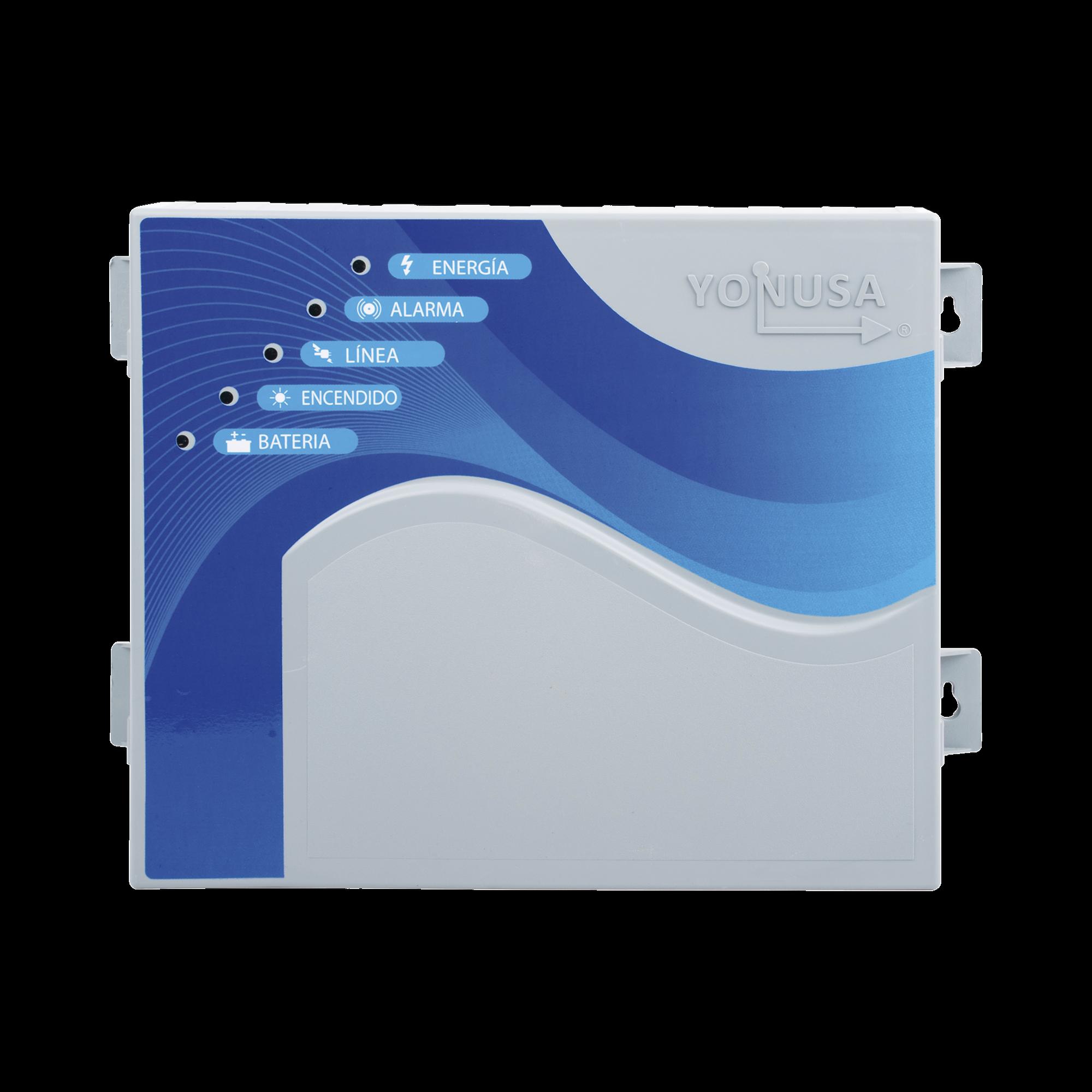 Energizador de 12,000Volts-1.2JOULES/700 Mts de protección para 5 Lineas/Activado por Atenuación de voltaje,Corte de línea o Aterrizamiento de la línea/Integración a panel de Alarma.
