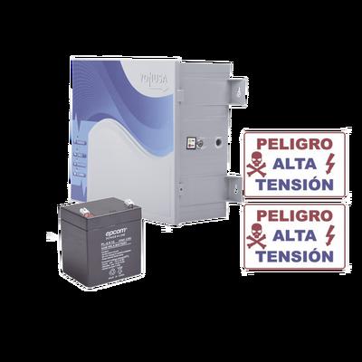 KIT de Energizador de 12,000Volts-.9JOULES/250 Mts de protección para 5 Lineas/Activado por Atenuación de voltaje,Corte de línea o Aterrizamiento de la línea/Integración a panel de Alarma.