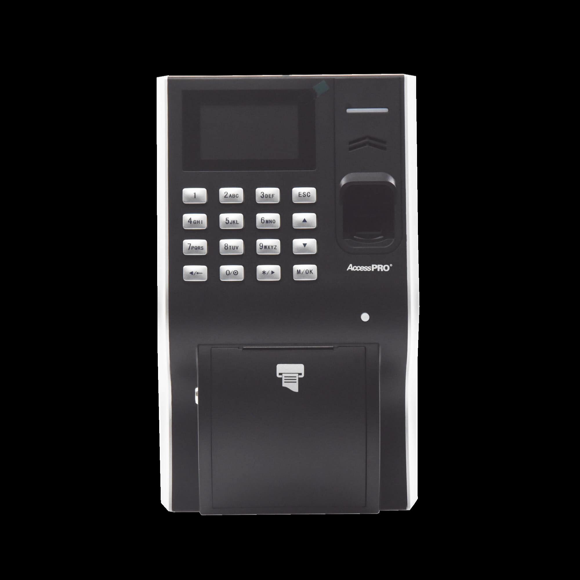 Reloj checador con impresora integrada ideal para comedores / TCP/IP / Reportes de asistencia con software / Imprime ticket por cada empleado / Soporta 3,000 huellas
