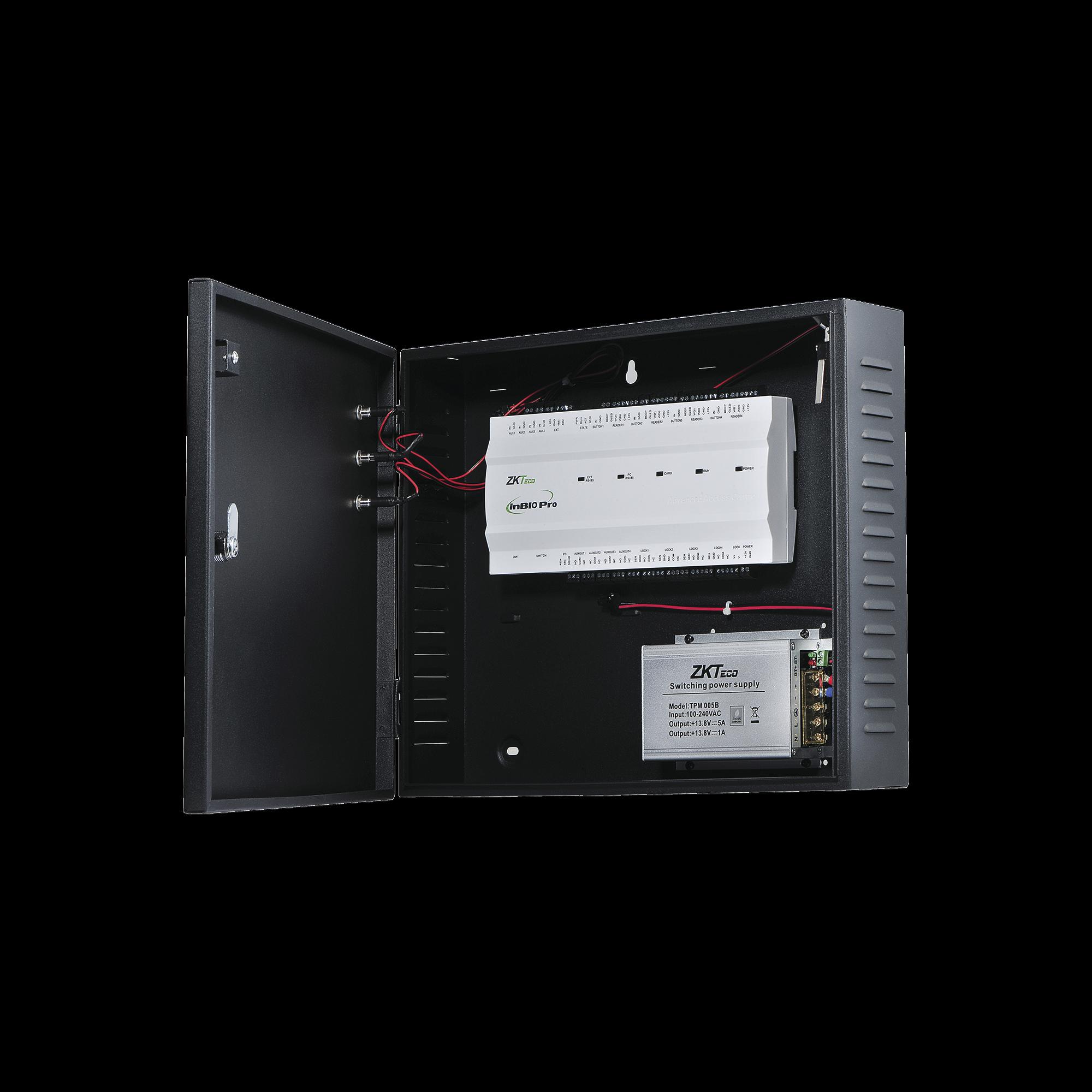 Controlador de Acceso / 1 PUERTA / Funcion ADMS PUSH Incluida / Alta Seguridad / 3 Años de Garantía / Biometría Integrada / 20,000 Huellas / Software de integración ZKBioSecurity