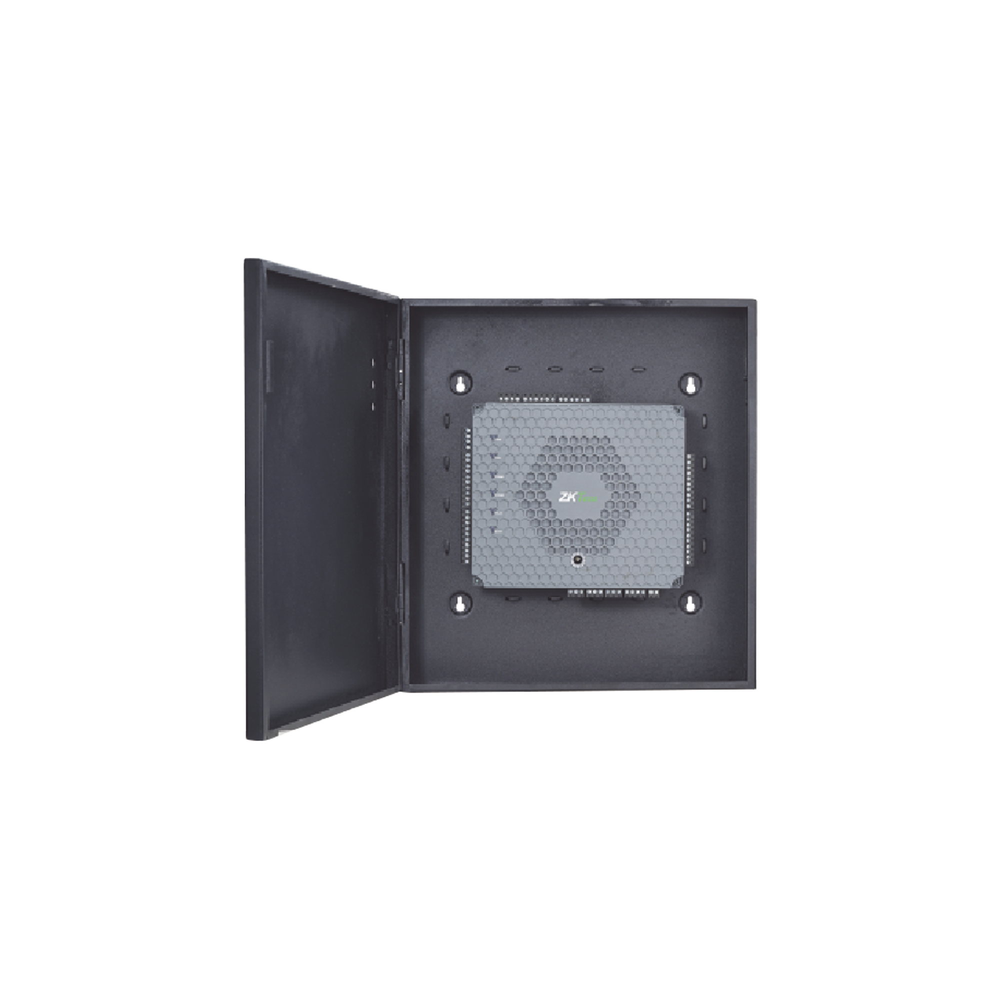 Controlador de Acceso / 2 Puertas / PoE / NO requiere Software / Biometría Integrada / 5,000 Huellas / Incluye Fuente y Gabinete