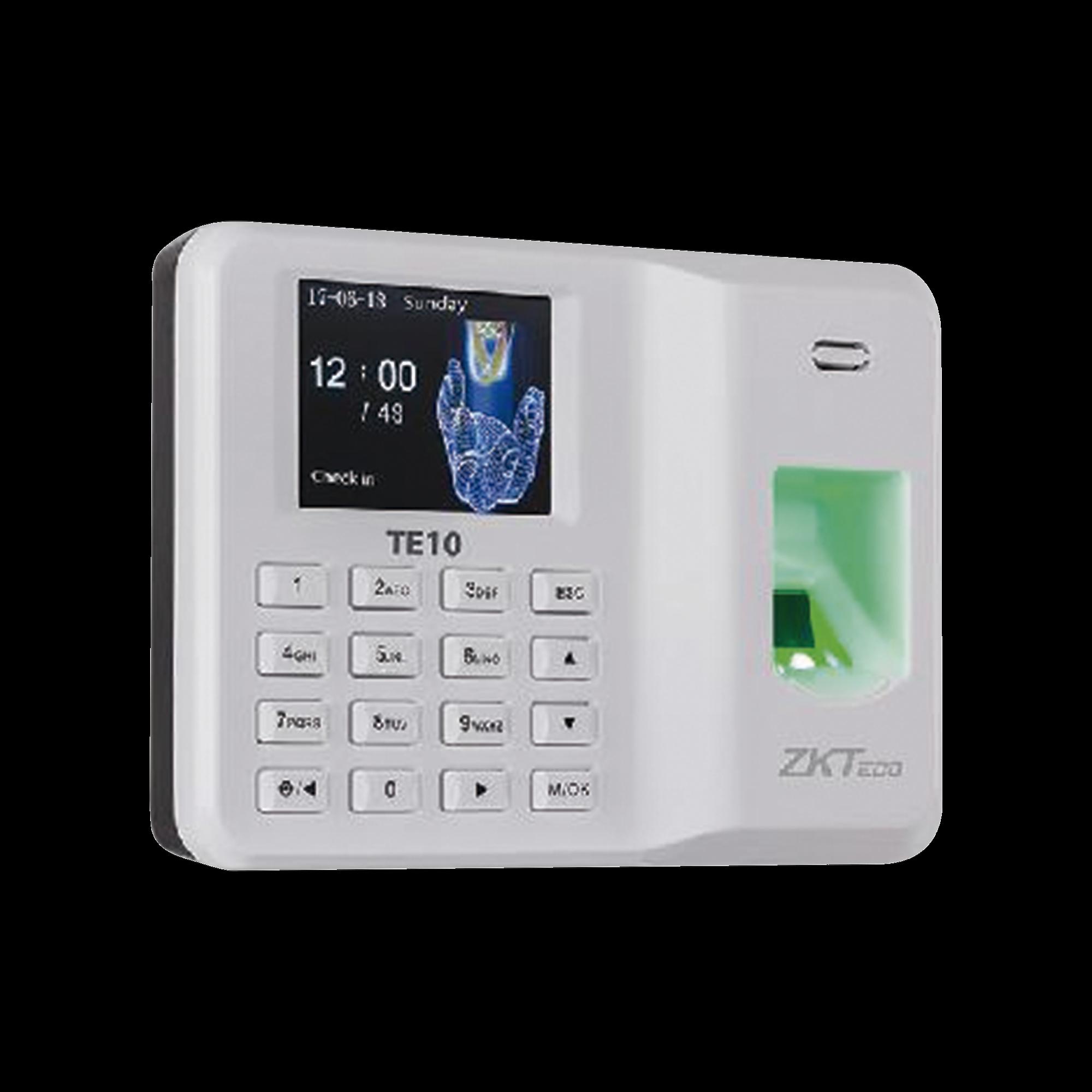 Lector de Huella con Teclado para Control de Asistencia, 500 Huellas, Genera Reporte por USB en Excel, Descarga mediante memoria USB