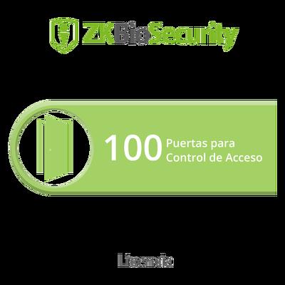 Licencia para ZKBiosecurity permite gestionar hasta 100 puertas para control de acceso