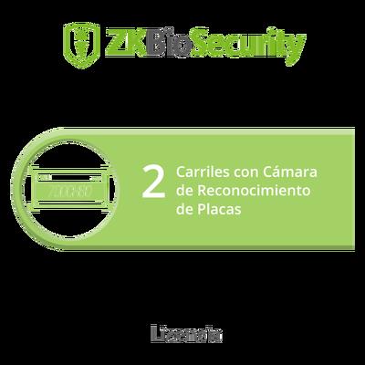 Licencia para ZKBiosecurity para modulo de estacionamiento de 2 carriles con camara de reconocimiento de placas