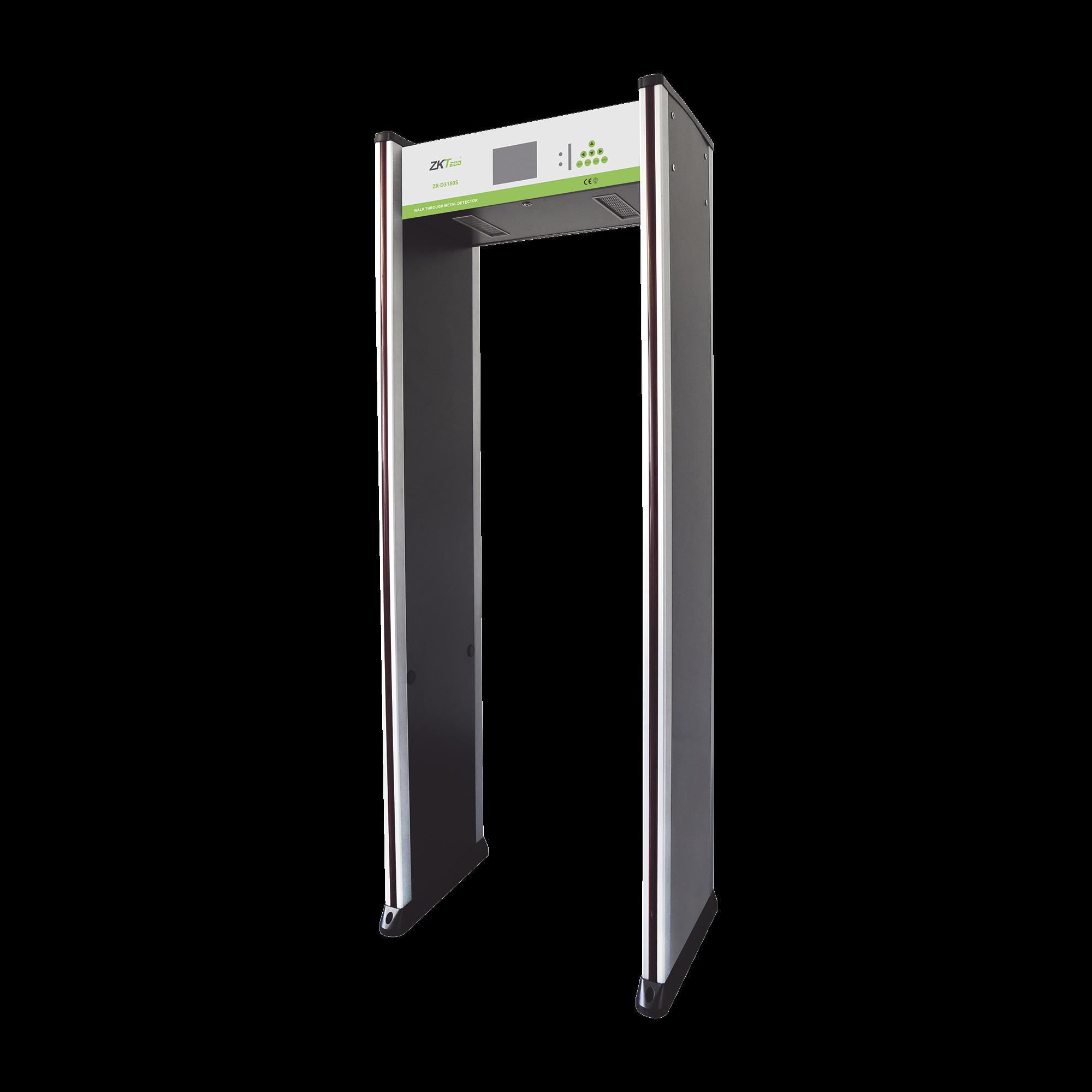 Arco Detector de Metales de 18 Zonas / Termografía Industrial / Sensor IR / Contador de personas / Pantalla LCD 5.7 IN / Fácil de programar mediante Control Remoto