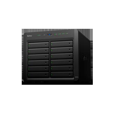 Servidor NAS de escritorio con 12 bahías, capacidad de 96TB, expandible a 288TB