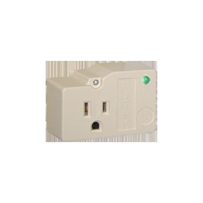 Protección para enchufe con salida única, circuito de 110 V - 15 A , tornillo de retención, corriente max 30 kA