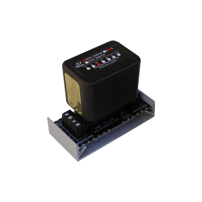 Protector modular para 2 pares, campo reemplazable, con base, circuito de 5 V