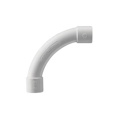 Curva de radio estrecho para tubería rígida, recomendado para cables de datos, PVC Auto-extinguible, de 50 mm