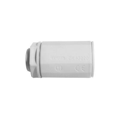 Conector de tubería rígida a caja (Racor), PVC Auto-extinguible, de 32 mm