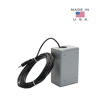 Micrófono omnidireccional con captación de sonido de 5 m, con 6 m de cable stereo para exterior y con conexión directa a cámaras IP