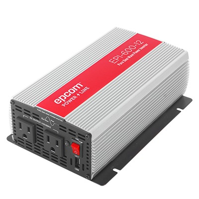 Inversor de Corriente Onda Pura 600W, Ent: 12 Vcd, Sal: 115 Vca 60 Hz