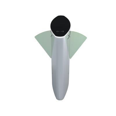 Puerta de cortesia tipo FLAP bidireccional / ACERO Acabado de Lujo / apertura de 1 segundo / Iluminacion LED / Alarma por acceso denegado