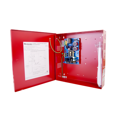 Fuente de poder de 12 - 24 vcd 6A Gabinete color rojo